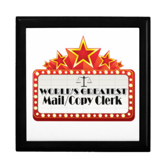 World's Greatest Mail/Copy Clerk Keepsake Boxes