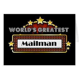 World's Greatest Mailman Card