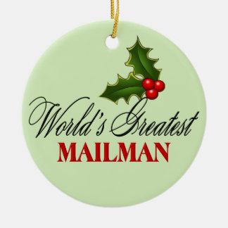 World's Greatest Mailman Ceramic Ornament