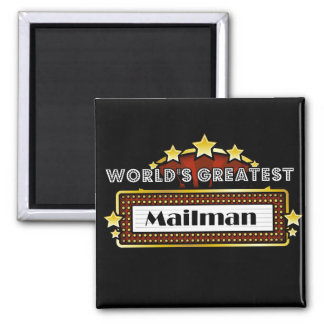 World's Greatest Mailman 2 Inch Square Magnet