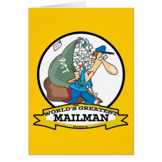 WORLDS GREATEST MAILMAN MEN CARTOON CARD