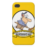 WORLDS GREATEST MAINTENANCE MAN CARTOON CASES FOR iPhone 4