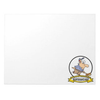 WORLDS GREATEST MAINTENANCE MAN CARTOON NOTEPAD