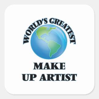 World's Greatest Make Up Artist Square Sticker