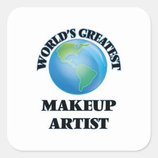 World's Greatest Makeup Artist Square Sticker