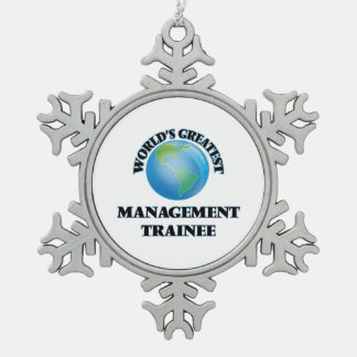 World's Greatest Management Trainee Snowflake Pewter Christmas Ornament