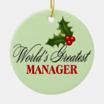 World's Greatest Manager Christmas Tree Ornament