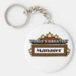 World's Greatest Manager Basic Round Button Keychain