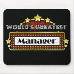 World's Greatest Manager Mouse Pad