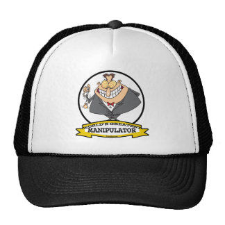 WORLDS GREATEST MANIPULATOR MEN CARTOON MESH HAT