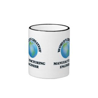 World's Greatest Manufacturing Engineer Ringer Coffee Mug