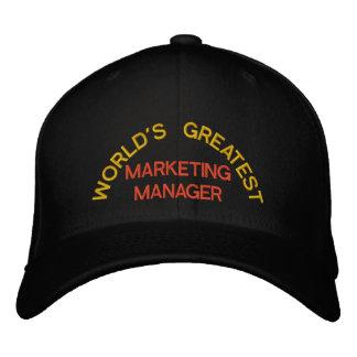 WORLD'S GREATEST, MARKETING MANAGER BASEBALL CAP
