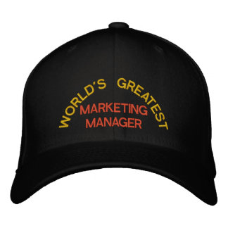 WORLD'S GREATEST, MARKETING MANAGER EMBROIDERED HATS