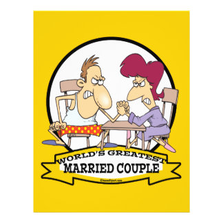 "WORLDS GREATEST MARRIED COUPLE SARCASM CARTOON 8.5"" X 11"" FLYER"