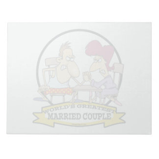 WORLDS GREATEST MARRIED COUPLE SARCASM CARTOON MEMO NOTEPADS