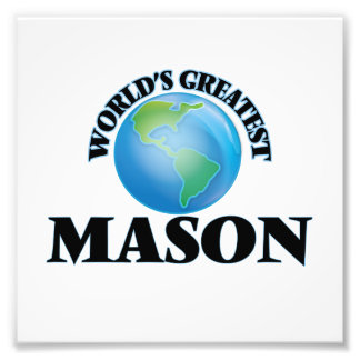 World's Greatest Mason Photo Art