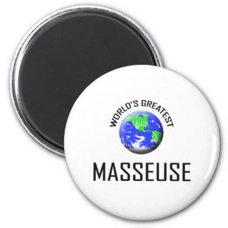 World's Greatest Masseuse Fridge Magnets