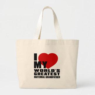 WORLD'S GREATEST MATERNAL GRANDFATHER JUMBO TOTE BAG