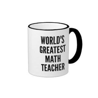 Worlds Greatest Math Teacher Ringer Mug