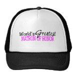 Worlds Greatest Matron Of Honor Mesh Hats