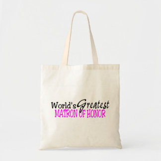 Worlds Greatest Matron Of Honor Pink Black Tote Bag