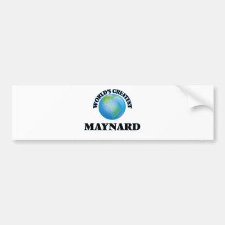 World's Greatest Maynard Bumper Sticker