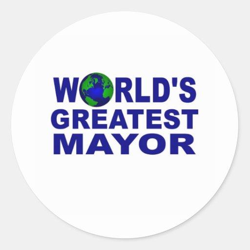 World's Greatest Mayor Classic Round Sticker
