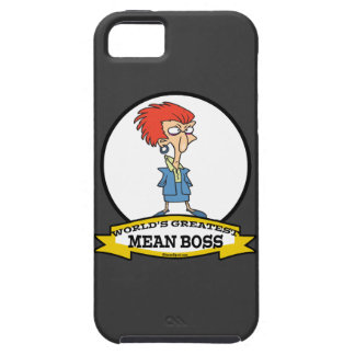 WORLDS GREATEST MEAN BOSS LADY CARTOON iPhone SE/5/5s CASE
