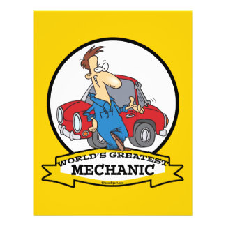 WORLDS GREATEST MECHANIC II CARTOON FLYER