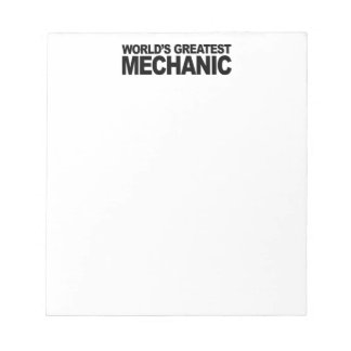 World's Greatest Mechanic Notepad