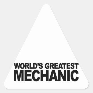 World's Greatest Mechanic Triangle Sticker