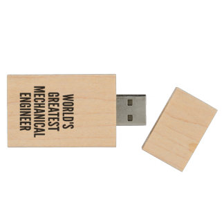 Worlds Greatest Mechanical Engineer Wood Flash Drive