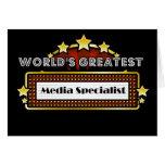 World's Greatest Media Specialist Card
