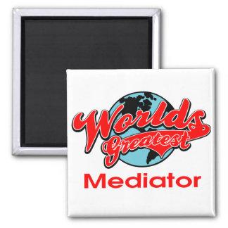 World's Greatest Mediator 2 Inch Square Magnet