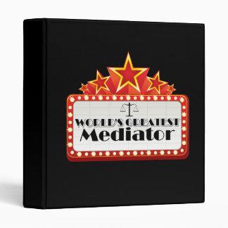World's Greatest Mediator 3 Ring Binder