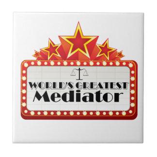 World's Greatest Mediator Ceramic Tile