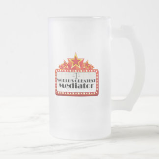 World's Greatest Mediator Frosted Glass Beer Mug