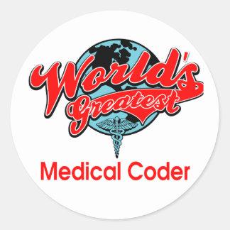 World's Greatest Medical Coder Classic Round Sticker