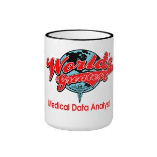 World's Greatest Medical Data Analyst Ringer Mug