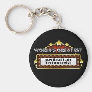 World's Greatest Medical Lab Technologist Basic Round Button Keychain