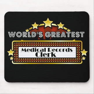 World's Greatest Medical Records Clerk Mouse Pad