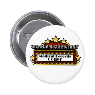 World's Greatest Medical Records Coder Button
