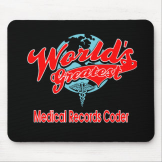 World's Greatest Medical Records Coder Mouse Pad