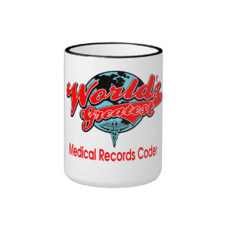 World's Greatest Medical Records Coder Ringer Coffee Mug