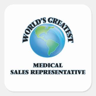 World's Greatest Medical Sales Representative Square Sticker