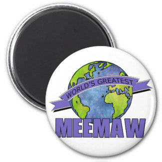 World's Greatest MeeMaw 2 Inch Round Magnet