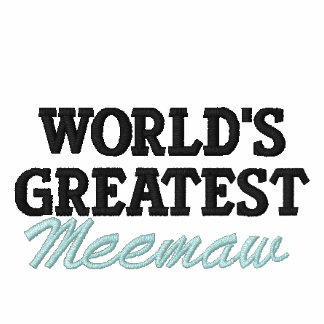 World's Greatest Meemaw Embroidered Polo Shirt