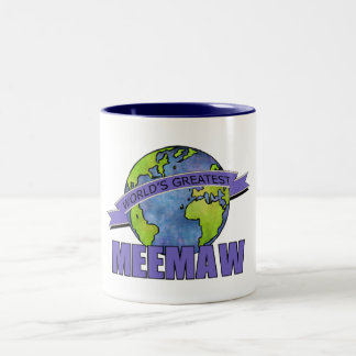 World's Greatest MeeMaw Two-Tone Coffee Mug