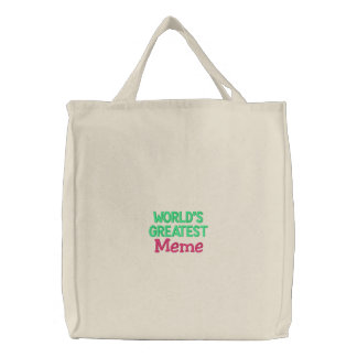 World's Greatest Meme Embroidered Tote Bag