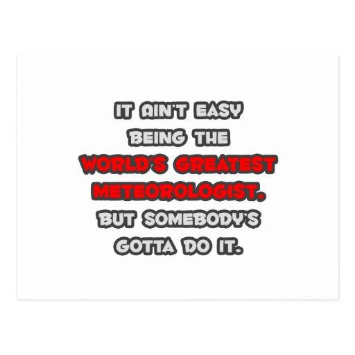 World's Greatest Meteorologist Joke Postcard